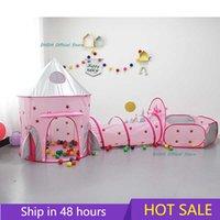 3 в 1 Детская детская детская площадка игрушка портативный дом Tipi сухой S ползающий туннель бассейн мяч яма дети палатка