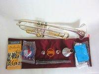Bach Stradivarius Lt180s-72 Tromba Authentic Double Silver Plated B Placcato B Piana Tromba Professionale Top Strumenti musicali Brassa e scatola rigida