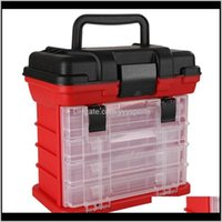 Layer Portable Carp Fishing Tackle Boxes Reel Line Lure Tool Storage Box Accessories Maxiq D5Dgi