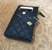 Paris Fashion mobile phone bag Women Multi function zero money bag Designer Leather Credit card bag Luxury VIP gift Wallet Long zip pocket