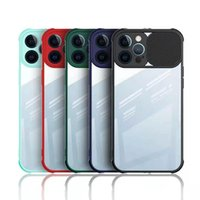 Slide Camera Lens Protective Cases For iPhone 12MINI 11 Pro Max XS XR 7PLUS Samsung S20 S30 A51 Matte Clear PC+TPU Cover
