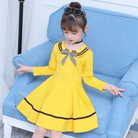 Girl's Dresses Kids Dress For Girls Autumn Long Sleeve Children Party Bow Lovely Princess 4 6 8 9 10 12 Years