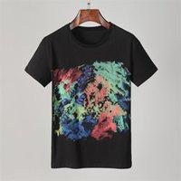 2021 tee marka tasarım gömlek yaz sokak avrupa moda erkekler yüksek kaliteli pamuk tişört rahat kısa kollu # 633 t-shirt