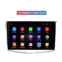 Android 자동차 DVD 플레이어 GPS 네비게이션 헤드 유닛 VW Passat 7 2010-2015 블루투스 와이파이 라디오 SD USB Aux