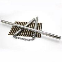 Wholesale-Stick Silvery Nunchakus 2 in 1 Scultura combinata Drago in acciaio inox Autodifesa Autodifesa antiscivolo Combatto Nunchaku 416 Y2