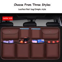 Car Organizer PU Leather Rear Seat Back Storage Bag High Quality Trunk Auto Stowing Tidying Interior Accessories Universal
