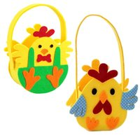 Easter Egg Basket Gift Boxes & Bags Non- woven Chick Printed ...