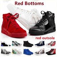 빨간색 하단 outsole 바닥 신발 플랫폼 운동화 남성 여자 스파이크 Luxurys 디자이너 로퍼 빈티지 남성 여성 캐주얼 야외 스케이트 보드 부츠 # 2021 #