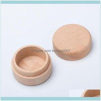 Boxes Bins Housekeeping Organization Home & Gardenbeech Wood Small Round Storage Retro Vintage Ring Box For Wedding Natural Wooden Jewelry C
