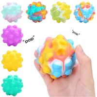 3D Fidget Toys Push Bubble Ball Game Sensory Toy Snowman ChristmasTree For Autism Special Needs Adhd Squishy Stress Reliever Kid Funny Anti-Stress
