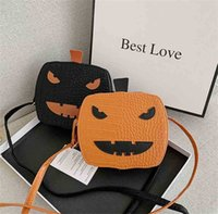 TIKTOK Halloween pumpkin bag designers pu leather backpack cartoon purses for kids crossbody fanny packs travel sports outdoor shoulder bag party gift G841D57