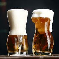 3d الإبداعية الجسم شكل الزجاج كأس الويسكي نظارات النبيذ النار الزجاج كأس مثير سيدة الرجال الجسم شكل البيرة كوب للفودكا ويسكي البيرة