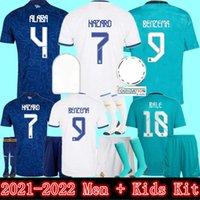 Реал Мадрид футбол футбол 2021 Алаба Хазар Футбольные рубашки Benzema Asensio Modric Marcelo 2022 CamiSeta Home Выездные 3-й мужской + детский комплект Униформа Джерси