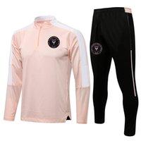 2021 2022 Inter Miami CF Soccer Training Suit Mens Tracksuits Adult Football Sopracksuit Tracksuit Set Kit Inverno Sport a maniche lunghe Felpa e Pantaloni Set