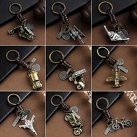 keychain Trendy Car Key Chain cha Gifts For Women Men Accessories holder -rings Bicycle Fighter s Pendant Cha Ring