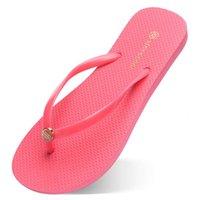 Eighty-five Slippers Beach Shoes Flip Flops Womens Green Yellow Orange Navy Bule White Pink Brown Summer Sport Sneaker Size 35-38 II8E