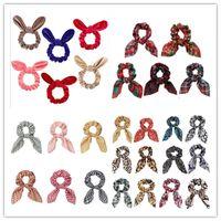 Bunny Ear Hair Tie Scrunchies Girls Donne Knot Bow Hairband Elastico Elastico Holder Holder Bande