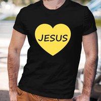 예수님이 우물쭈물 해주는 캐주얼 남성 T 셔츠 패션 하라주쿠 맞춤 남자 탑스 짧은 소매 남성 티 빈티지 아시아 크기 의류 남성 T-shir