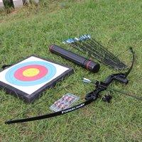 TopArGery 2 Color Recurve Arco 30-40 lbs Potente tiro con arco de caza Tiro hacia abajo Arco de arco FLECHO CON FLECHA PERRÁNEO Y ESTABILIZANTE DE TIRERO
