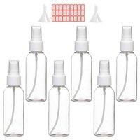 Storage Bottles & Jars 2pcs Funnels 27pcs Labels Spray 50ml Clear Empty Mist Plastic Bottle Set Pump Perfume Atomizer Travel