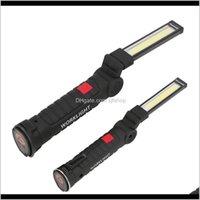 Lanternas portáteis e caminhadas esportes Outdoorsportable Mode lanterna Tocha USB recarregável LED Work Light espigrafia magnética gancho para fora