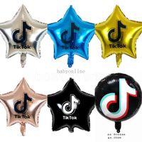 Tiktok Balloons 18-дюймовый пятиконечная звезда алюминиевая пленка шар рождения вечеринка декоративные темы вечеринки украшены 7 цветов DHL самые дешевые