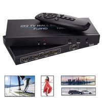 Cavi audio Connettori 2x2 Videocamera a 4 canali Videocomprentro a 4 canali 1 Uscita ingresso 2x1 / 3x1 / 4x1 / 1x2 / 1x3 / 1x4 Tv Processore TV Splicing