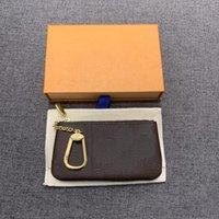 코인 지갑 검은 꽃 지갑 클래식 남자 여자 키 주머니 체인 가방 먼지 가방과 상자