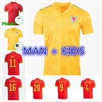 Man Kids Kit 2021 2022 ويلز لكرة القدم جيرسي 20 21 بيل ألين جيمس بن ديفيز ويلسون قميص كرة القدم