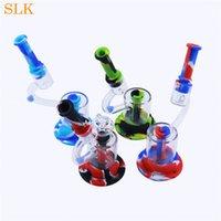 SMIRESHOP оптом микроскоп дизайн стеклянный водяной бонг с 14 мм стеклянные мини-бонги дым фильтр стеклобережные курительные трубы