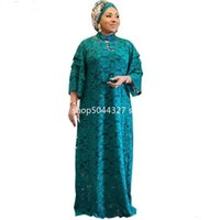 Piece Sets African Lace Maxi Dresses Women Evening Party Dress Muslim Dashiki Africa Clothes Plus Size Casual Christmas Robe Ethnic Clothing