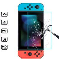 Película protetora de protetor de tela de vidro temperado premium para o interruptor de Nintendo HD Clear anti-risco