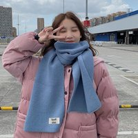 Scarves Women's Winter Woolen Knitted Warm Student Girl Scarf Thick Versatile In Autumn And Couple Ins Style Trendy Mann