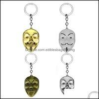 Favor Event Festive Party Supplies Home & Gardenvendetta Chain Women Men Pendant Mask Keychain Key Movie Ring Holder Souvenir Gifts 4Styles