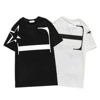 2021SS Мужская футболка хип-хоп мода птица печать мужчин Teers с коротким рукавом высококачественные женщины TEE поло по размеру M-3XL