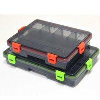 Accesorios de pesca Herramientas de illure Tackle Herramientas Cajas de 2 colores Caja Fish Lure Bait Houghs Herramienta con compartimentos PESCA