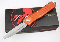 5 Estilo Microtech Combat Troodon Cuchillo Cuchillo Interceptor Bowie / Hellhound Tanto / Spear Point D2 Hoja de acero Cuchillo táctico UTX85 Knifes
