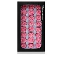 2-3cm / 21pcs, grau um preservado Austin rosa cabeça flor, cor-de-rosa eterna flores para decoração de festa de casamento, dia de evento caixa de presente favor1 1272 v2