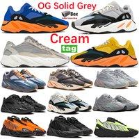 Krem 700 Runner OG Katı Gri Koşu Ayakkabıları Parlak Mavi Güneş Atalet Analog Layık Programı Siyah Eğitmenler Turuncu Fosfor Yansıtıcı Erkek Kadın Sneakers