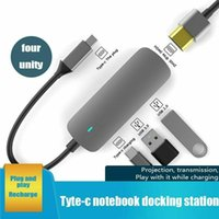 Hubs USB 3.0 Type C High Speed Port USB-C Hub To 4K PD Charging 4 In 1 Multi Function Adapter For Mackbook Pro Laptop