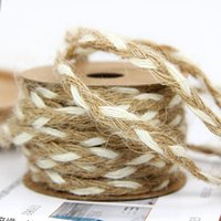Party Decoration 5M Natural String Jute Twine Burlap Rope For DIY Florist Bouquet Ribbon Decor Accessories Halloween Knitting Cords
