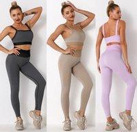 Tracksuits Womens Designer Yoga wear active Set outfits for Woman crop top vest sport leggings Casual gym Tracksuit suit Tech fleece track pant big hip new style girls