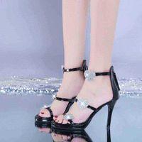 Женские туфли на высоком каблуке Элегантный блеск Шиннинг звезда и сердца Партия свадьба WJ011 210610 QXD9