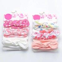 12 Pcs Set Sweet Newborn Baby Girl Headbands Bows Elastic Print Infant Toddler Turban Band Hair Accessories Hairband