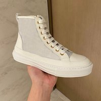 STELLAR STEAKER BOOT SHOASH ZIP Технический теленок кожа белый резина подошвы дизайнерские кроссовки женщин люкс повседневная обувь