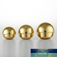 15g 30g 50g Luxus Leer Kugel Acrylcreme Container Gold Eye Creme Probe Kosmetische Glasflasche Verpackungspost 10pcs / lot