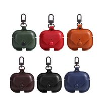 Business Leather Solid Color case for Airpods Pro Apple AirpodCase Wireless Earphones Charging Compartment Box Protective Cover Headphone Accessories
