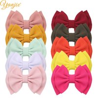 Hair Accessories 10pcs lot Chic 6'' Large Waffle Bows For Girls Kids Headband Fabric Barrette Clip DIY Women
