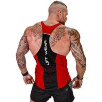2019 Séance sec d'entraînement à sec en cours d'exécution Hommes Elastic Gyms rouges Tapot Top Entraînement Gym Sport Tshirt Tshirt Sans Manches Fitness Top Dershirt