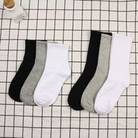 Black and White Solid Color Unisex Cotton Socks Women Jaoanese Harajuku Woman Socks for Spring 2 Length Casual Calcetines 2021